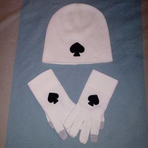 Kate Spade hat and matching gloves